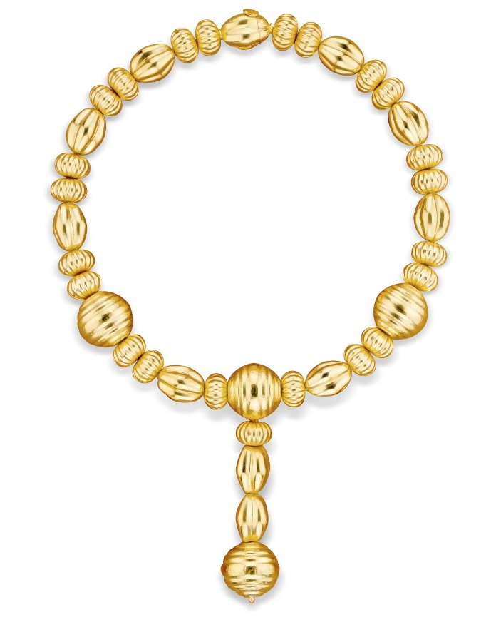 Necklace in 22k gold from LALAoUNIS