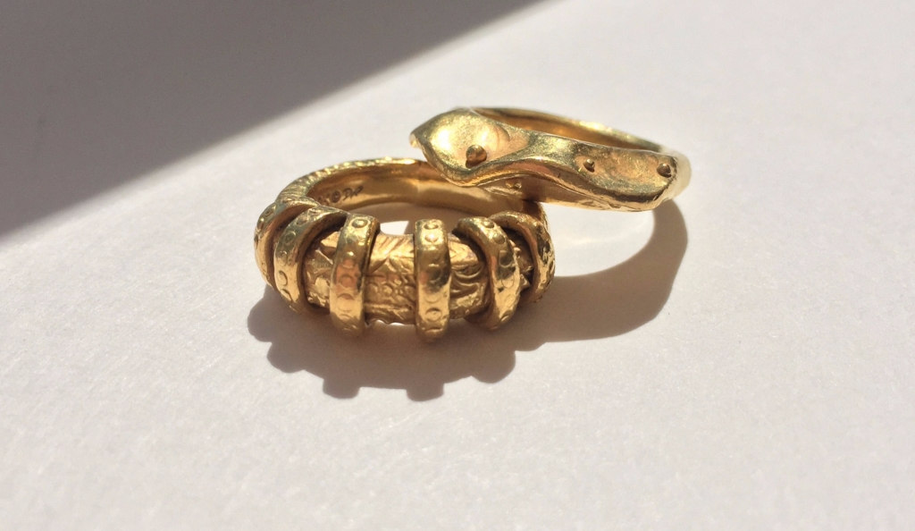 22k gold rings from Denise Roberge