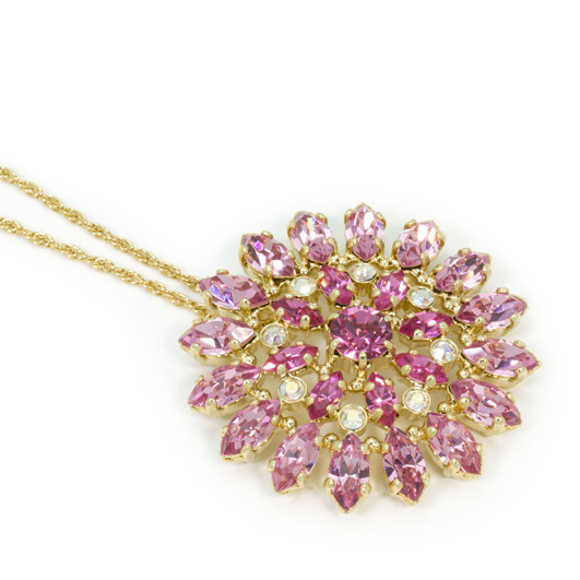Masaaki Takahashi Fireworks necklace in 18k gold-plated brass with Swarovski crystals