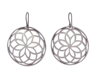 Spirograph hoop earrings in sterling silver, $168; Jane Diaz