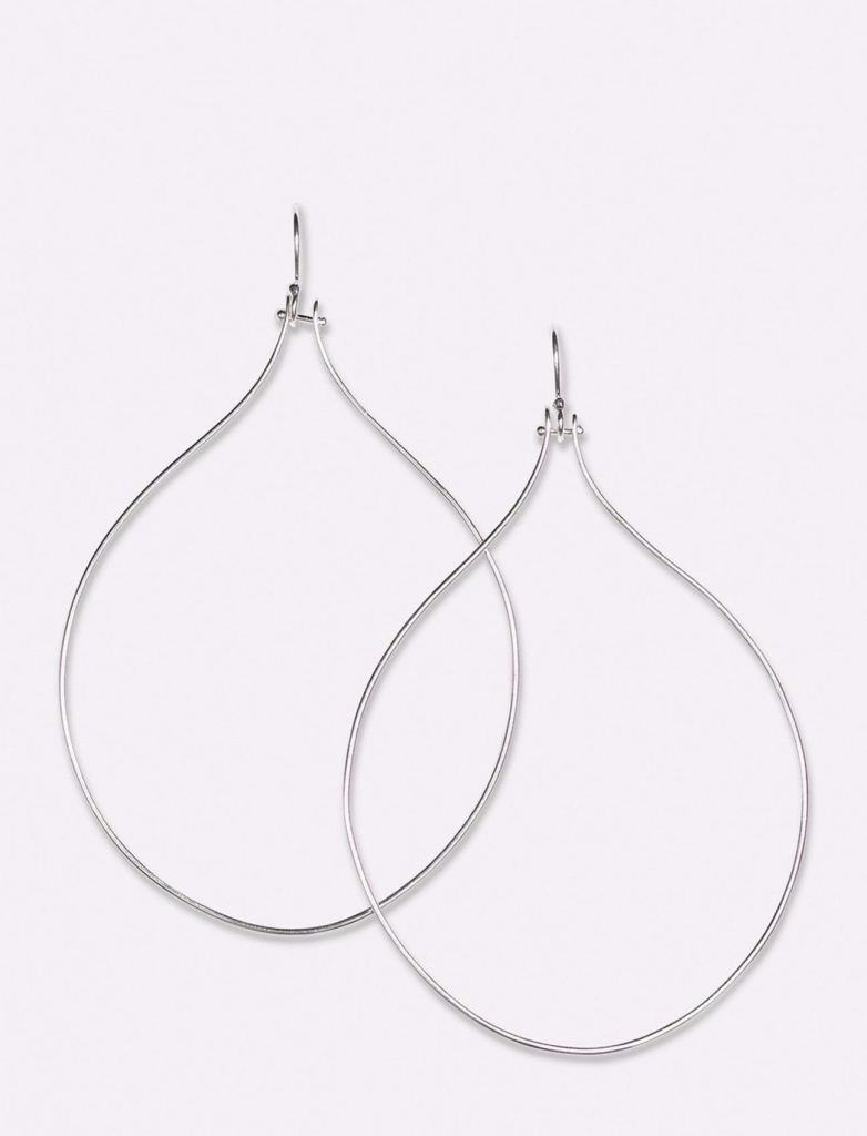 Antiope hoop earrings in sterling silver, $255; Jill Platner