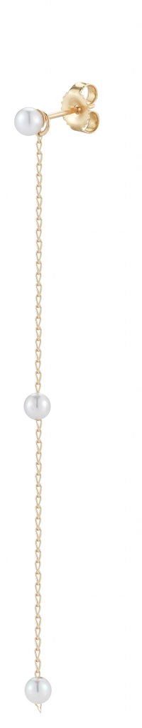 Pair of stud earrings with removable jackets in 14k yellow gold with akoya and freshwater pearls, $390; Mizuki at Net-A-Porter.com