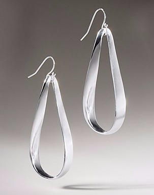 Mobius Teardrop earrings in sterling silver, $275; Somers