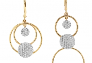 Infnity Pick-Me-Up earrings in 14k yellow gold with 0.76 ct. t.w. diamonds, $3,200; Phillips House, 800-892-5656; info@phillipshouse.com