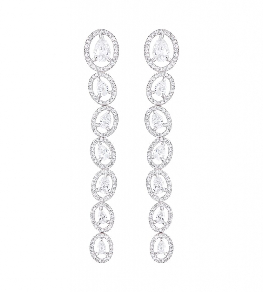 Celestial Drop earrings with diamonds from Nirav Modi
