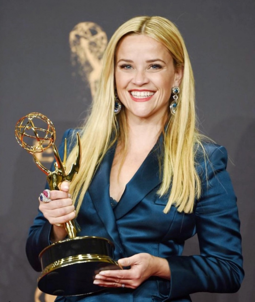 Reese Witherspoon in David Webb jewels at the Emmys