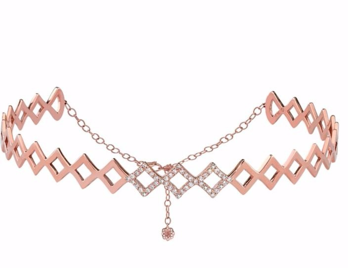 Choker in 18k rose gold with diamonds from Gigi Ferranti Jewelry