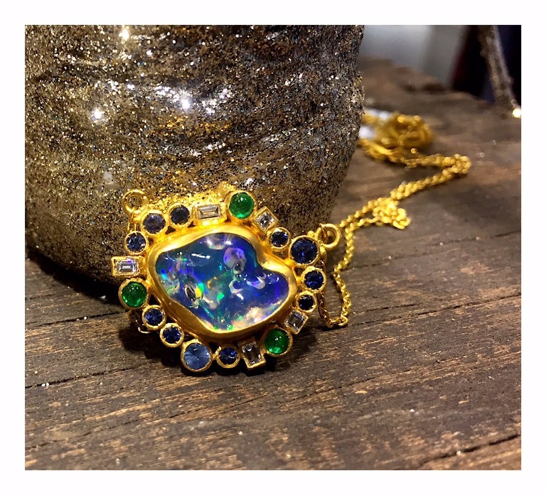 Jelly opal pendant necklace from Lika Behar For purchase: For purchase: Visit The Store at MAD, call 212-299-7777, or email info@madmuseum.org