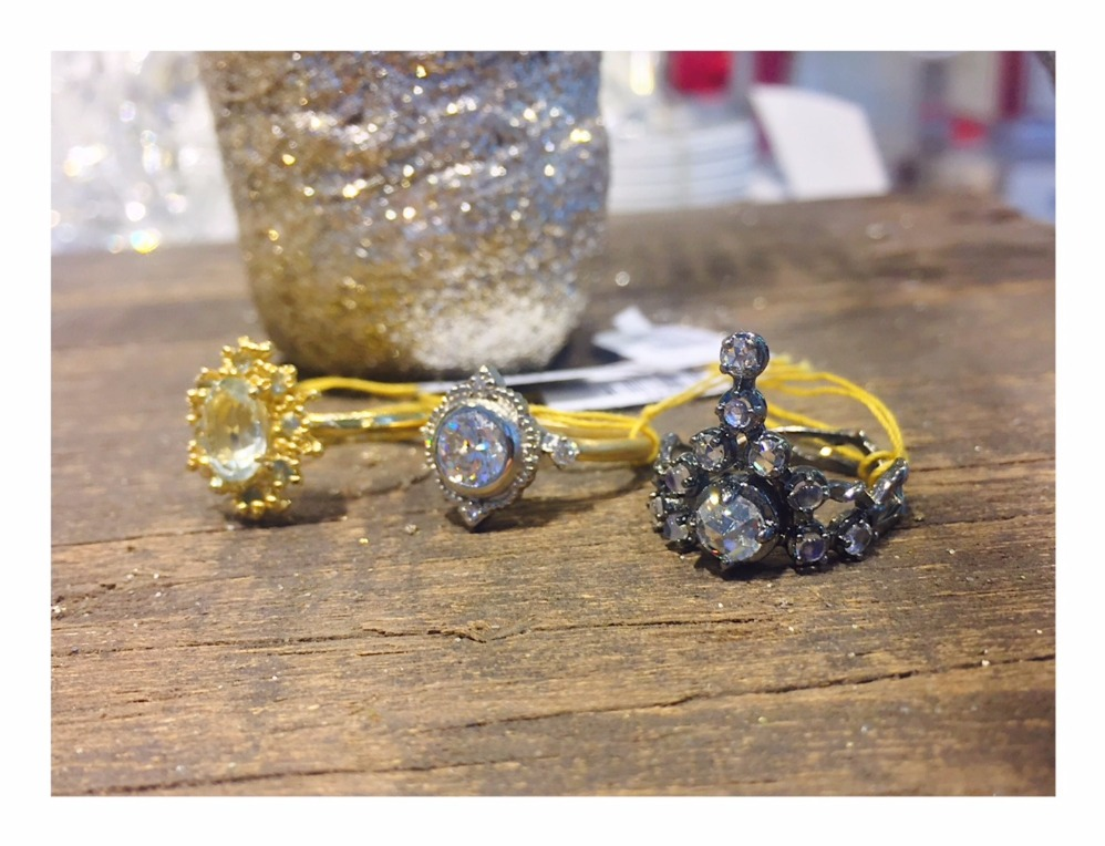 Engagement rings, from left: Ruta Reifen, Megan Thorne, Karen Karch For purchase: For purchase: Visit The Store at MAD, call 212-299-7777, or email info@madmuseum.org