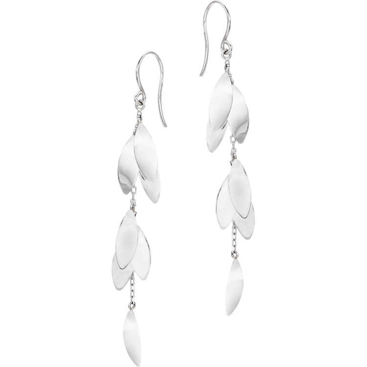 Platinum Born Drop Leaf earrings, $825 at Lux, Bond & Green