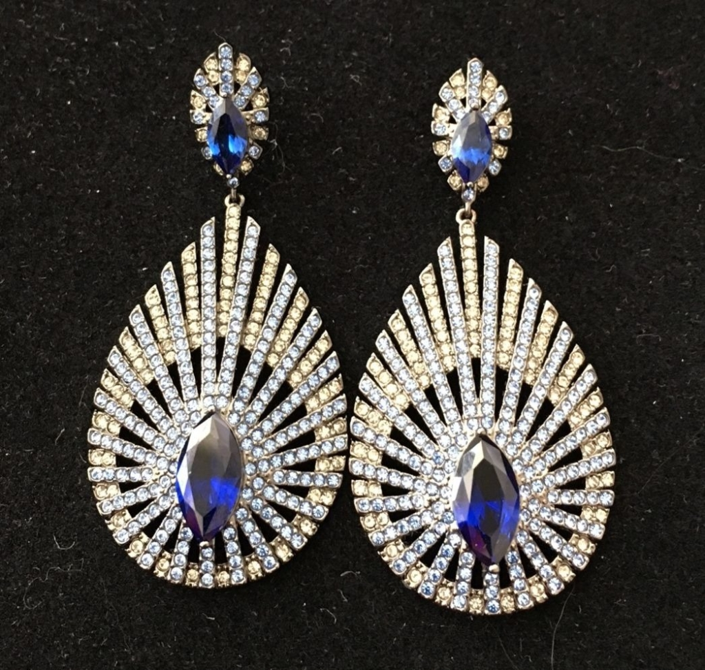 Vintage-inspired earrings in Christine's personal jewelry collection.