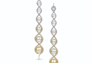 South Sea and akoya pearl earrings from Adam Neeley took the President's Award in the International Pearl Design Competition from the Cultured Pearl Association of America. They, along with the other contest winners, are on sale this week at the Clay Pot in Nolita.