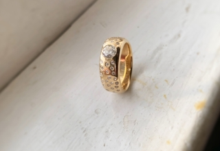 My mother-in-law's redesigned engagement ring from Leo Ingwer