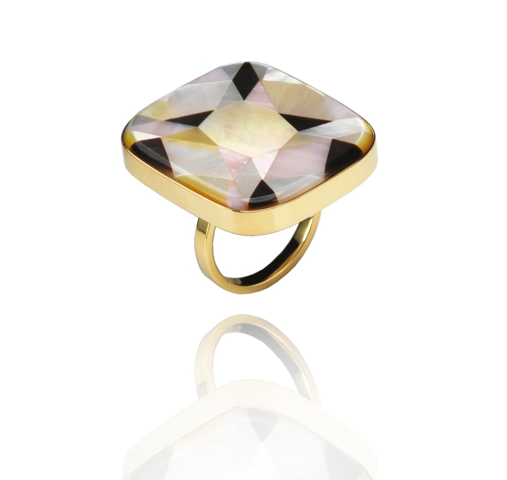 Melanie Georgacopoulos mother-of-pearl ring