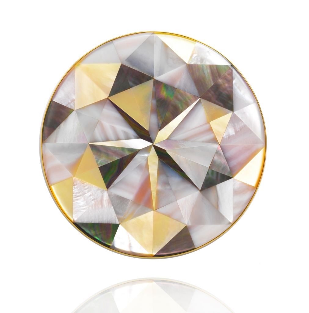 Melanie Georgacopoulos mother-of-pearl brooch
