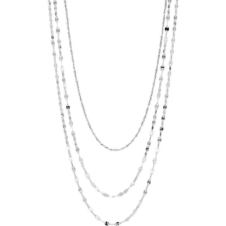 Platinum Born Triple-Strand necklace, $1,275 at Lux, Bond & Green