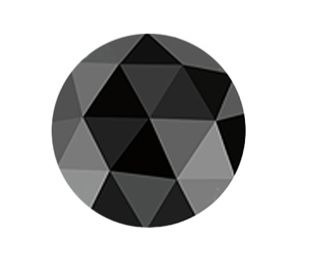 Black rose-cut diamond from Instagem.net/TBR. International Inc.