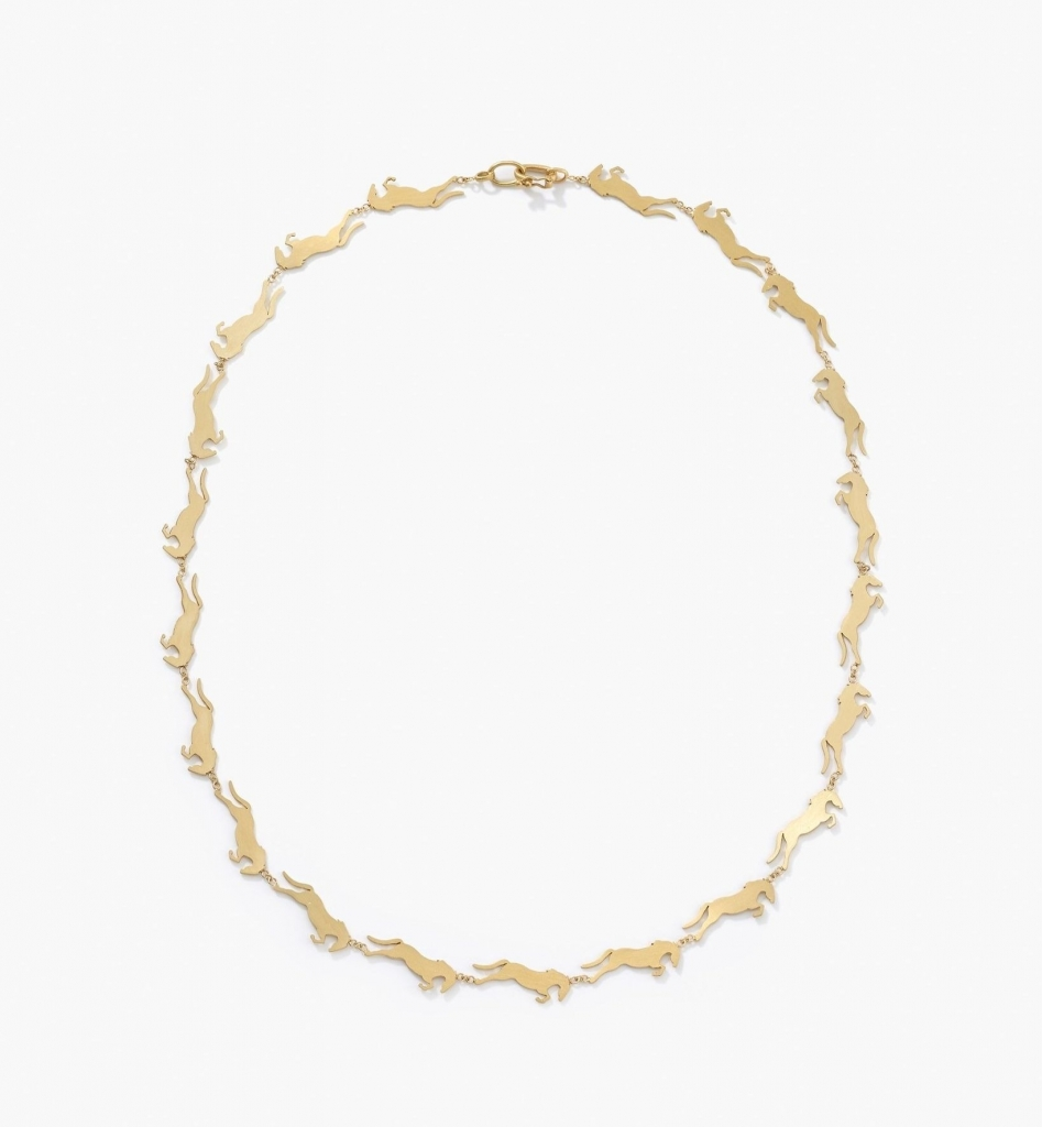 Little Filly Link necklace in 18k yellow gold, $5,980; Irene Neuwirth
