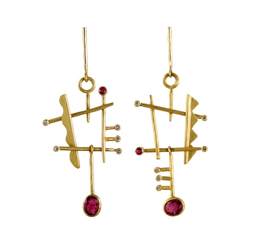 Margery Hirschey Orpheus drop earrings