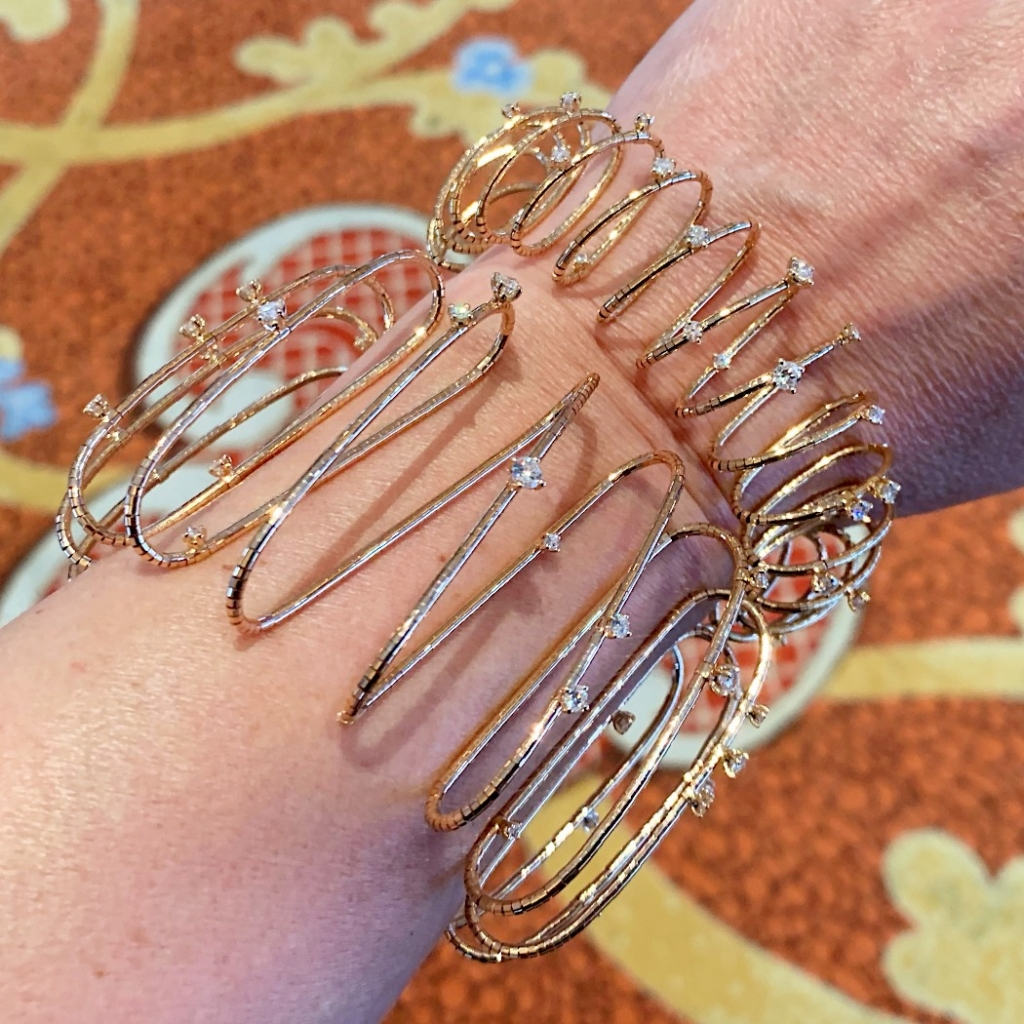 New bracelets with volume from Mattia Cielo in gold and diamonds