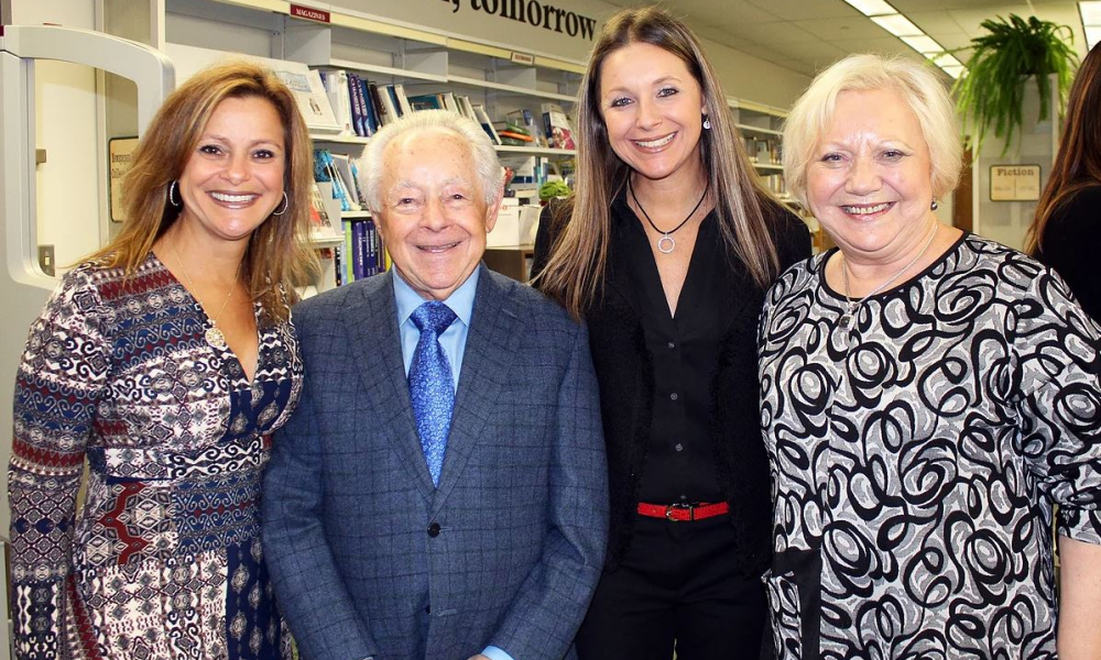 From left: Ann S. Arnold, Mark Schonwetter, Isabella S. Fiske, and Luba Schonwetter
