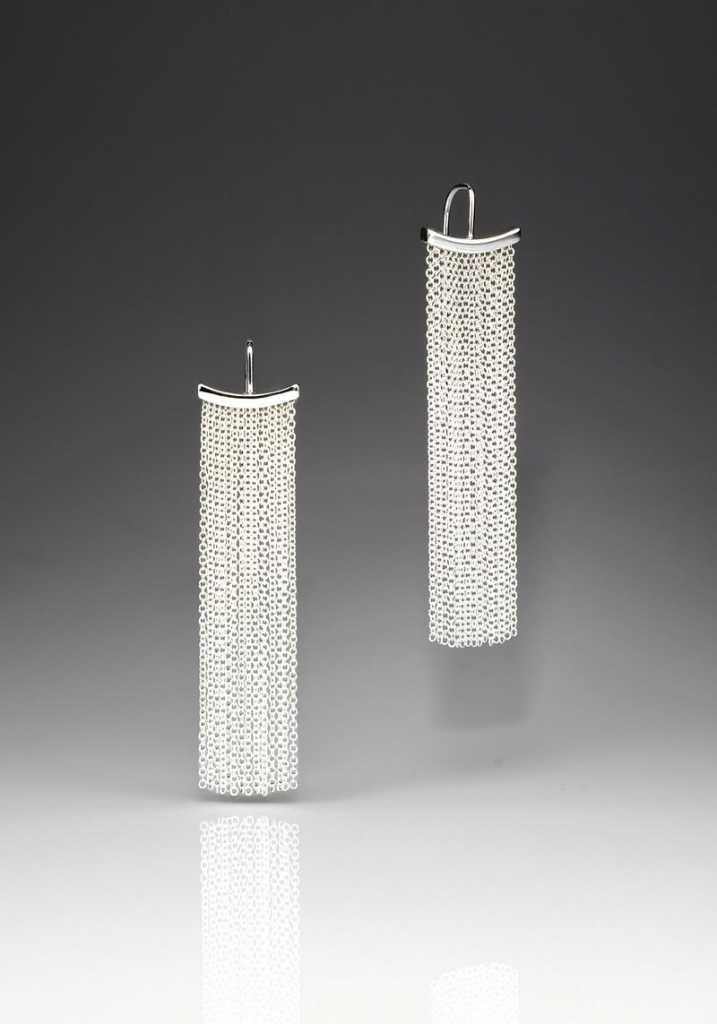 Best-selling Fringe earrings in sterling silver, $211.43; available online at Andrea Blais