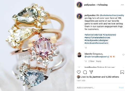 @valeriemadisonjewelry takes over the @pollywales feed