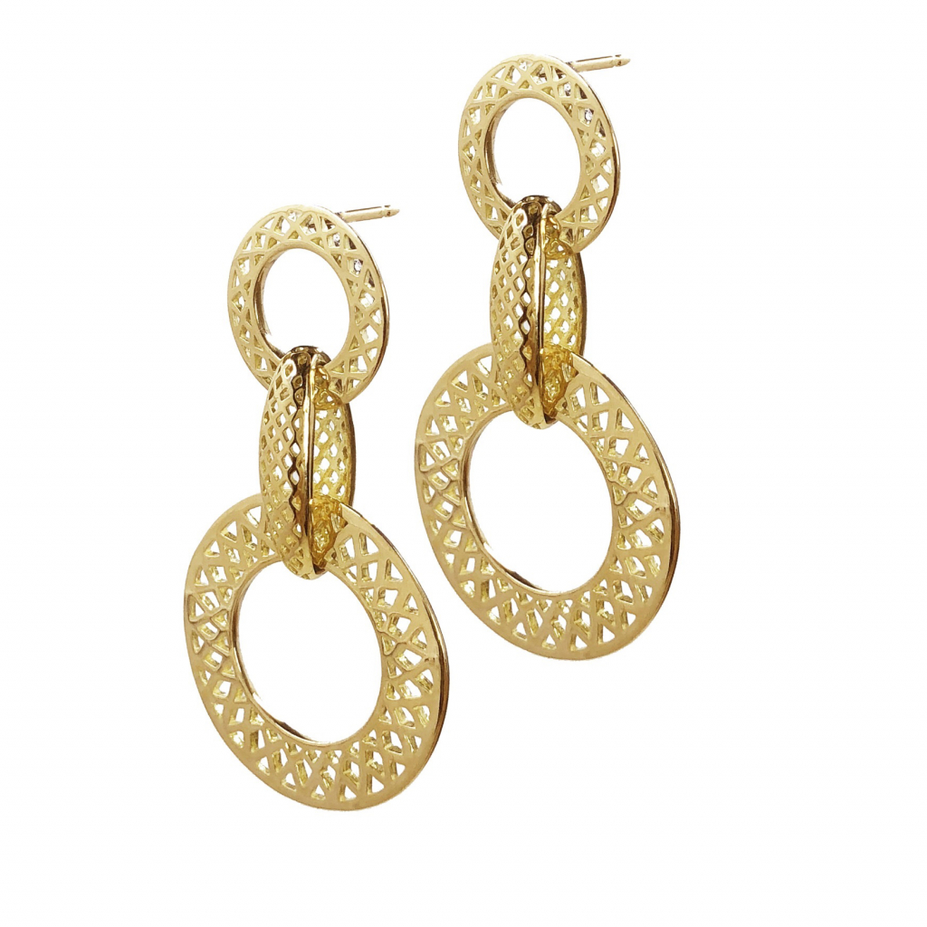 Jewelry Designer Ray Griffiths has a signature style of crown work in karat gold.