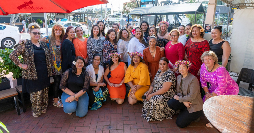 """An annual dinner that Shahana Kimiangatau, founder of Shahana Jewels, holds for her top customers. """"This is only half of them,"""" she laughs. """"Our tribe has grown so big. I love that everyone can put a face to a name at this dinner."""""""