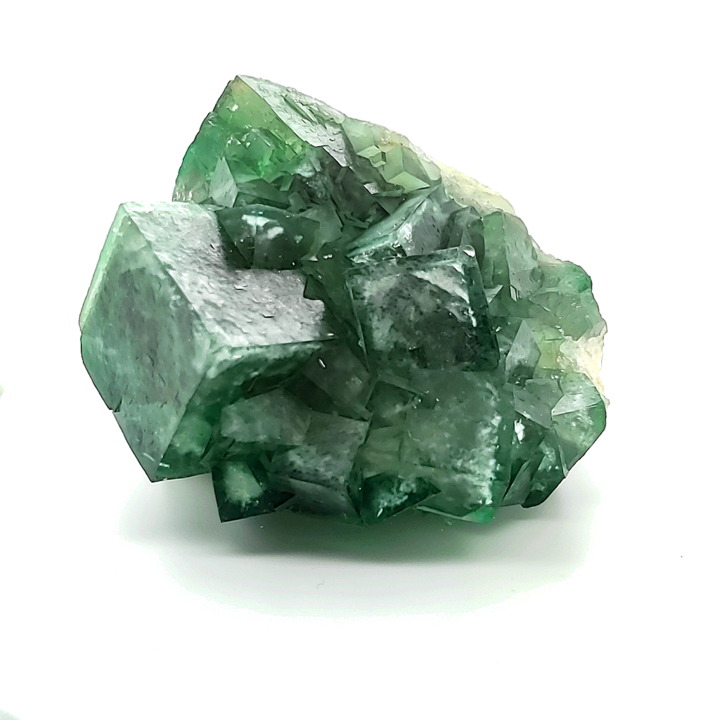 Fluorite is one of the gem specimens available in the subscription service.