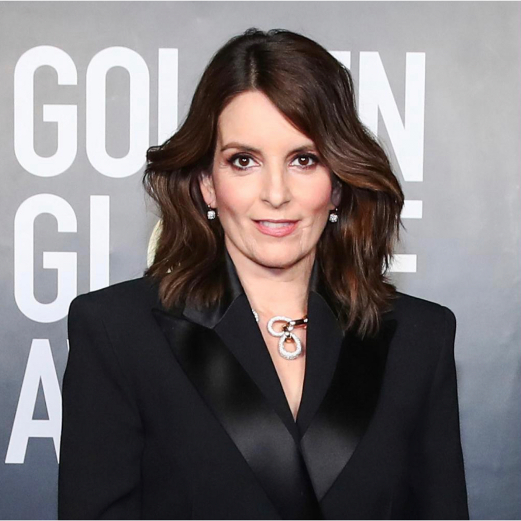 Tina Fey in Pomellato (she wore jewels from other brands as well). Fey was a host for the evening, along with pal Amy Poehler. Source: @pomellato