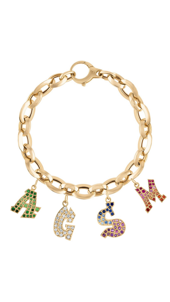 Bracelet with Graffito charms