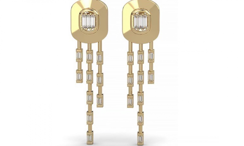 Méduse earrings in 14k yellow gold with 0.57 ct. t.w. diamonds, $750; Clarté